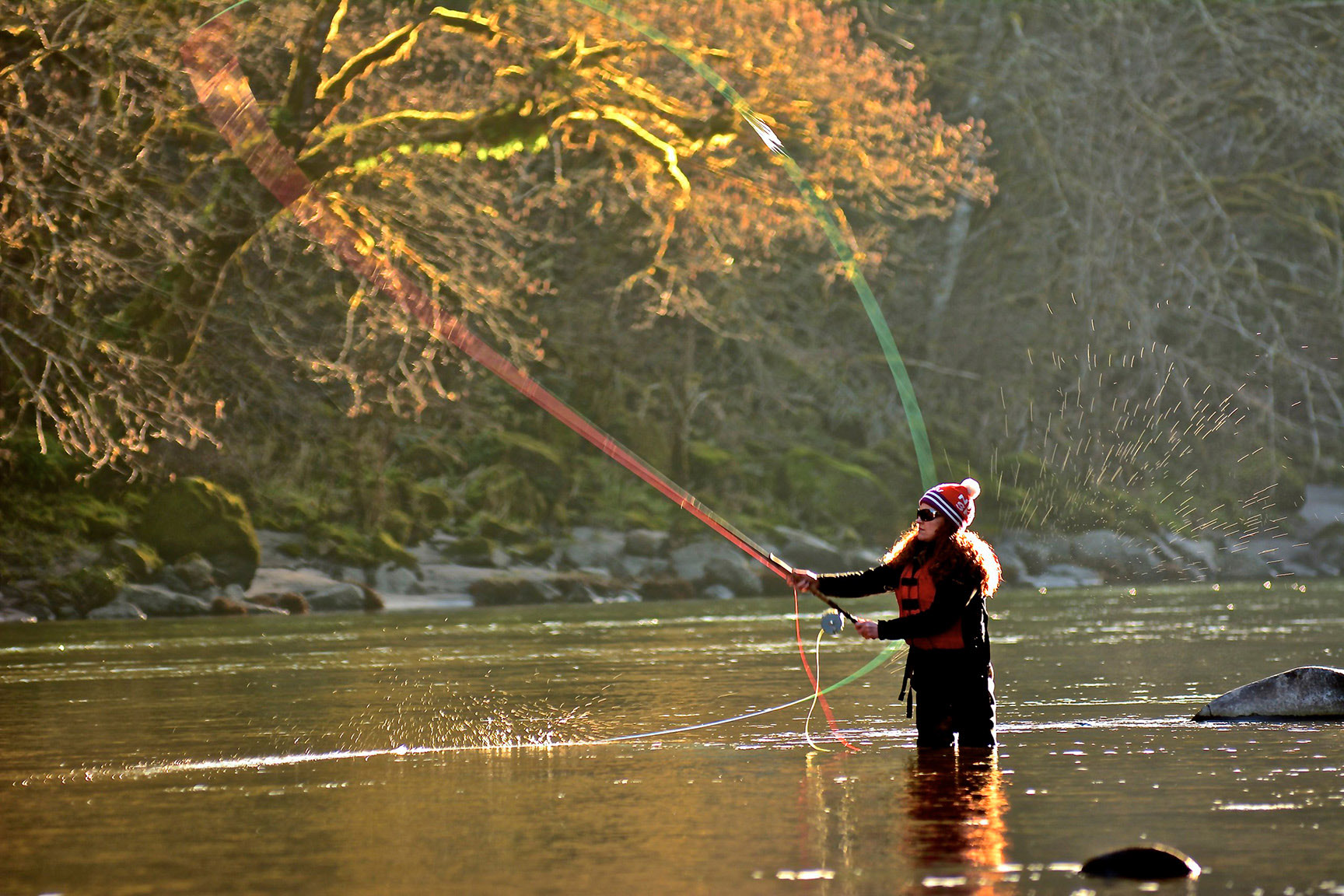 sandy river winter steelhead fishing trip little creek